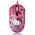 Hello Kitty晶彩LED閃動光學滑鼠-懷舊粉