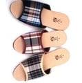 (e鞋院)仿拉菲草室內拖鞋-細格 (12雙580元)