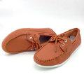 【ALicE】Y413-2 簡約紳士綁帶造型真皮鞋-橘