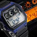 CASIO卡西歐AE-1300WH-2A電子錶 方型 定時器 藍黑 橡膠 45mm 男錶 AE-1300WH-2AVDF
