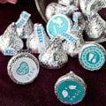 ╭*幸福朵朵*╯【Tiffany婚禮主題─KISSES水滴巧克力(每包100顆)】-創意糖果婚禮小物