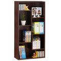 《HOPMA》胡桃木色現代書櫃/收納櫃