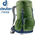 【Deuter】Zugspitze 24L網架直立式透氣背包 輕量健行背包/自助旅行背包客/雙肩後背包★滿額送好禮★3430116 綠/灰