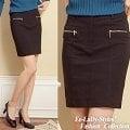 *衣衣夫人*【A32233】假拉鍊口袋彈性短裙(黑)XS