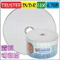 一般可印式TRUSTEE printable DVD-R 16X / 4.7GB / 130MIN 空白光碟片 燒錄片 100片 (50片裸縮2入)