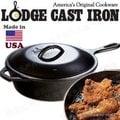 超值特賣 Lodge/附蓋深型鑄鐵煎鍋/26cm2.8升 鑄鐵鍋平底鍋 美國製 L8CF3