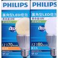 PHILIPS 飛利浦 LED,12W燈泡,可選(白光)或(黃光),E27頭 ,110V~單顆價,