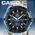 CASIO 時計屋 卡西歐手錶 EDIFICE EF-540D-1A2 競速三眼時尚男錶 全新 保固 開立發票