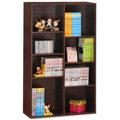 《HOPMA》胡桃木色經典八格書櫃/收納櫃