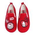 ☆淳淳寶貝童裝☆日本三麗鷗授權台灣製造★ [714751] Hello Kitty凱蒂貓40週年紀念鞋款圖案不對稱休閒帆布鞋/紅/ [現貨]16~22