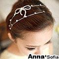 【AnnaSofia】雙線點鑽蝶結 韓式髮箍