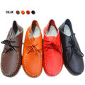 【ALicE】(預購)Y410-6 簡約素色綁帶造型真皮鞋-紅