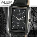 CASIO手錶專賣店 國隆 ALBA精工 雅柏手錶 AG8293X1 黑鋼方形霸氣型男錶 全新品 開發票 保固一年