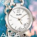 CASIO 時計屋 SEIKO ALBA亞柏 AH7715X1 經典白時尚手環女錶 防水30米 全新有保固 附發票~