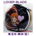 《福利社》好運代理 LUBRO RACE TECH 海賊王 航海王 LOVER BLACK 情侶版 娜美 黑 3/4罩 安全帽 內襯全可拆洗 雙D扣設計