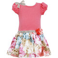★MerryGoAround★ Bonnie Jean Bonnie Jean Spring: Dress: 短袖連身裙洋裝: 粉紅豹紋: BJ-2778