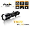 【Fenix】 TK09 R5 LED 一鍵全能戰術手電筒( MAX 450 流明/三段模式/IPX8 級防水)/緊急照明.露營旅遊.修繕防災.戶外登山.露營必備 黑/光