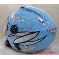 《福利社》ZEUS ZS 202FB A2 202FB-A2 T41 天空藍 內墨鏡 3/4罩 安全帽 四分之三帽 內襯三角可拆洗