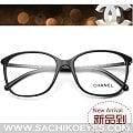 新款正品CHANEL香奈兒鏡框複古時尚板材潮女大臉配近視眼鏡架3219 501