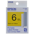 EPSON 標籤機色帶 LC-2YBP S623003 (黃底黑字/6mm)