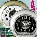 CASIO手錶專賣店 國隆 SEIKO鬧鐘 精工 QHE119S_G 滑動式靜音秒針 金 / 銀 二色 全新品 保固一年 開發票