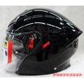 《福利社》AGV K5-JET 素 黑色 【2015最新款 ROSSI 羅西46 】四分之三帽 半罩 3/4罩 雙層鏡片