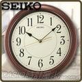 CASIO 時計屋 SEIKO掛鐘 QXA616B 氣質木膠框數字夜光掛鐘 平滑式指針 全新 保固 附發票