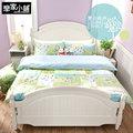 【戀家小舖】精梳棉單人3件式床包被套組 - 夏日綠洲 C01-AAS112