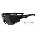 【凹凸眼鏡】ADHOC-K-NIGHT-I 軍用級偏光運動太陽眼鏡(鐵灰色)加贈夜視鏡片(黃片)~六期零利率~