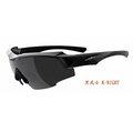【凹凸眼鏡】ADHOC-K-NIGHT-軍用級(偏光)運動太陽眼鏡(亮黑色)加贈夜視鏡片(黃片)~六期零利率~