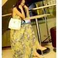 【ALicE】KBN238-3 視覺饗宴.波希米亞風長洋裝-黃