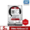 『人言水告』WD50EFRX 紅標 5TB 3.5吋NAS硬碟(NASware3.0)《供貨中》