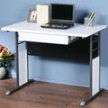 《Homelike》巧思辦公桌-100cm加厚桌面-附抽屜 工作桌 書桌 OA 電腦桌(多款搭配)