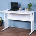 《Homelike》巧思辦公桌-120cm加厚桌面 工作桌 書桌 OA 電腦桌(多款搭配)