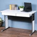 《Homelike》巧思辦公桌-120cm加厚桌面-附二抽屜 工作桌 書桌 電腦桌(多款搭配)