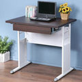 《Homelike》巧思辦公桌-80cm加厚桌面-附抽屜 工作桌 書桌 OA 電腦桌(多款搭配)