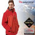 【西班牙GRIFONE】男新款 二件式GORE-TEX防水外套+Primaloft輕量保暖外套.防風外套.雪衣.連帽可拆/A5C082D 紅/磚紅