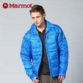 【贈保暖圍巾】【Marmot】男 防風羽絨外套│ 保暖外套 70630 『亮藍』