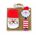 ★MerryGoAround★ Mud Pie Sock & Pacy Set: 2件組襪子+奶嘴練夾: 聖誕老人: 1592045