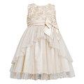 ★MerryGoAround★ Bonnie Jean Fall: Dress: 短袖連身裙洋裝: 香檳金: BJ-3148