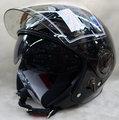 THH T314 314 素  黑 飛行帽 安全帽 內襯全可拆洗 雙層鏡片半罩安全帽