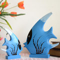 FunZakka Vintage 日雜風現代質感設計 手工木雕動物 地中海洋風彩繪熱帶魚 kiss魚擺飾 家居 餐廳氣氛婚禮櫥窗佈置 生日禮物