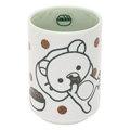 San-X 拉拉熊滿滿懶熊生活系列日式陶瓷茶杯。綠