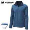 丹大戶外用品 荒野【Wildland】男款彈性奈 米銀PILE刷毛長袖上衣/抗靜電/吸濕快乾/休閒保暖衣 型號0A12502-46 土耳其藍
