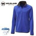 丹大戶外用品 荒野【Wildland】男款彈性奈 米銀PILE刷毛長袖上衣/抗靜電/吸濕快乾/休閒保暖衣 型號0A12502-77 中藍