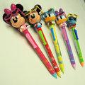 東京迪士尼Disney史迪奇/米奇/米妮/唐老鴨/翠西 可移動墨鏡吃爆米花原子筆 ~66JP日貨