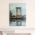 ☆大樹小屋☆【H0309198】瑞典TROMSO 時尚無框畫-W142金色鐵橋 / 紐約 舊金山