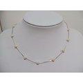 Mbox 韓國時尚氣質925純銀珍珠短版鎖骨項鍊
