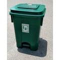 =海神坊=台灣製 JEAN YEEN 1011 腳踏式環保桶 資源回收桶 掀蓋式垃圾桶 收納桶 厚重 附蓋附輪 50L