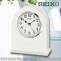 CASIO手錶專賣店 國隆 SEIKO座鐘 精工 QXE049W 壁爐造型 純白 全新品 保固一年 開發票